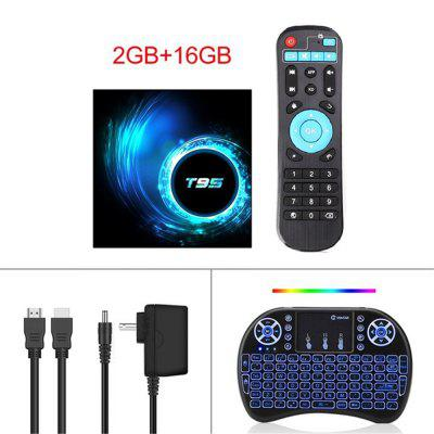 T95 Android Smart TV Device 10 4GB 32GB 64GB 5Gwifi i8mini wireless keyboard Allwinner H616 Quad Core 6K H.265 2.4G Wifi Player Google Youtube Image