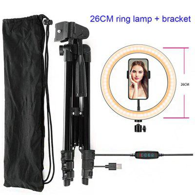 LED Selfie fill Ring Light Lamp Selfie Photography Ring Lighting Lamp Mobile Phone Live Bracket Light for YouTube Live 26CM ring lights