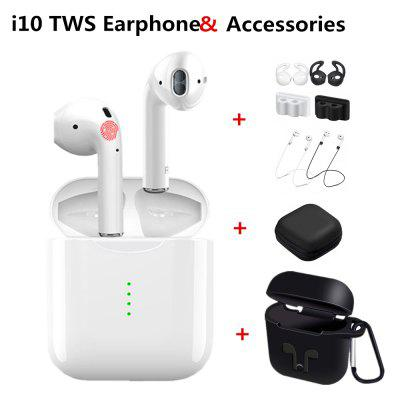 i10 TWS Bluetooth Wireless Stereo earbuds Sport Headset With Protective Accessories