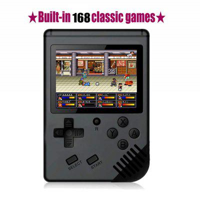 168 Games Retro Handheld Game Console Support TV 2 Player Classic Game Console