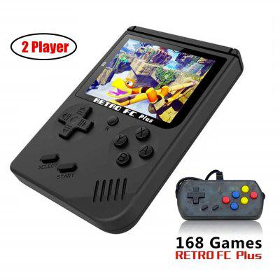 Retro Handheld Game Console 3 Inch Support TV 2 Player 168 Classic Game Console