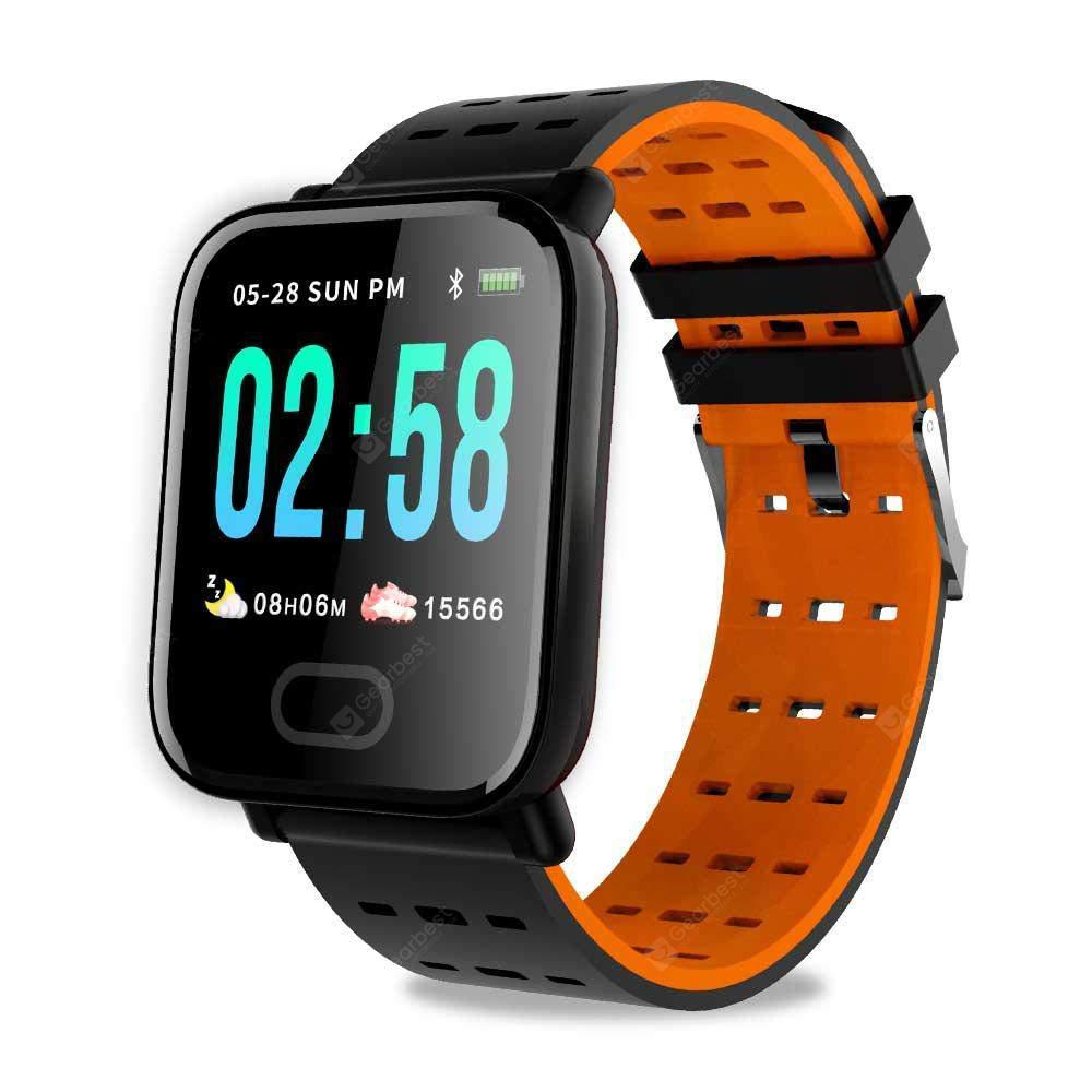 Gearbest GONOKER A6 SmartWatch IP67 Waterproof Fitness Watch with Heart Rate Calorie Counter - Orange China