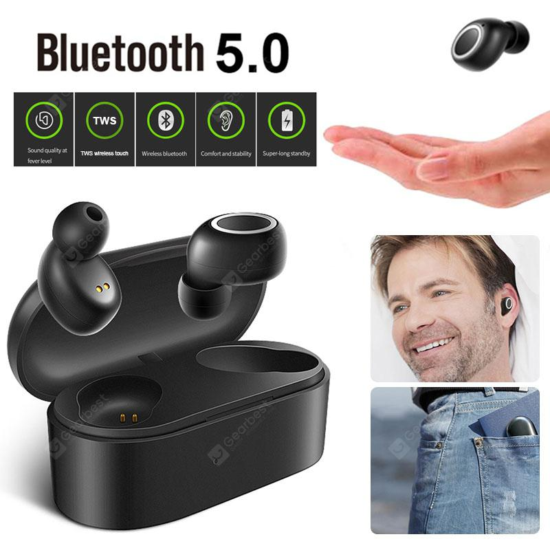 Gearbest GONOKER D015 Bluetooth Earphones TWS Wireless Bluetooth Earbud Touch Control Headset - Black China
