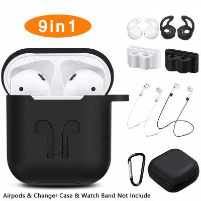 GONOKER 9 in 1 Soft Silicone Case For Airpods 1 2 Shockproof Earphone Protective Cover