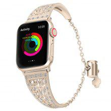 Women Bracelet with Diamond Metal for Apple Watch Band Series 4 3 2 1 Watches Strap Watchband