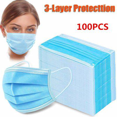 50 Disposable Face Mask Protective Non-woven Non-medical Elastic Mouth Safety Masks