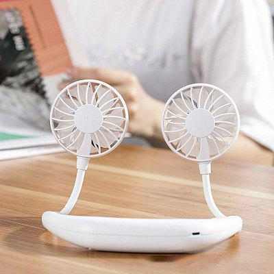 Hands-free Neck Band Hands-Free Hanging USB Rechargeable Dual Fan Mini Air Cooler Summer Portable 2000mA