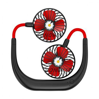Hanging Neck Fan Hanging USB Rechargeable Dual Fan Mini Air Cooler Summer Portable 2000mA