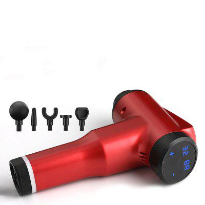 New Electric Massager Massage Gun Muscle Pain Management LCD Display 6 Colors With 5 heads 18MM Deep Vibration Fascia