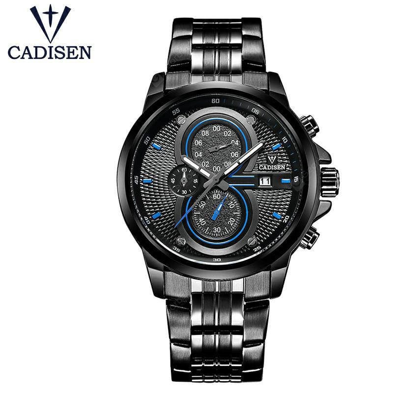 CADISEN 2019 New Hot Quartz Men Watch Stainless steel Military Army Fashion Sports