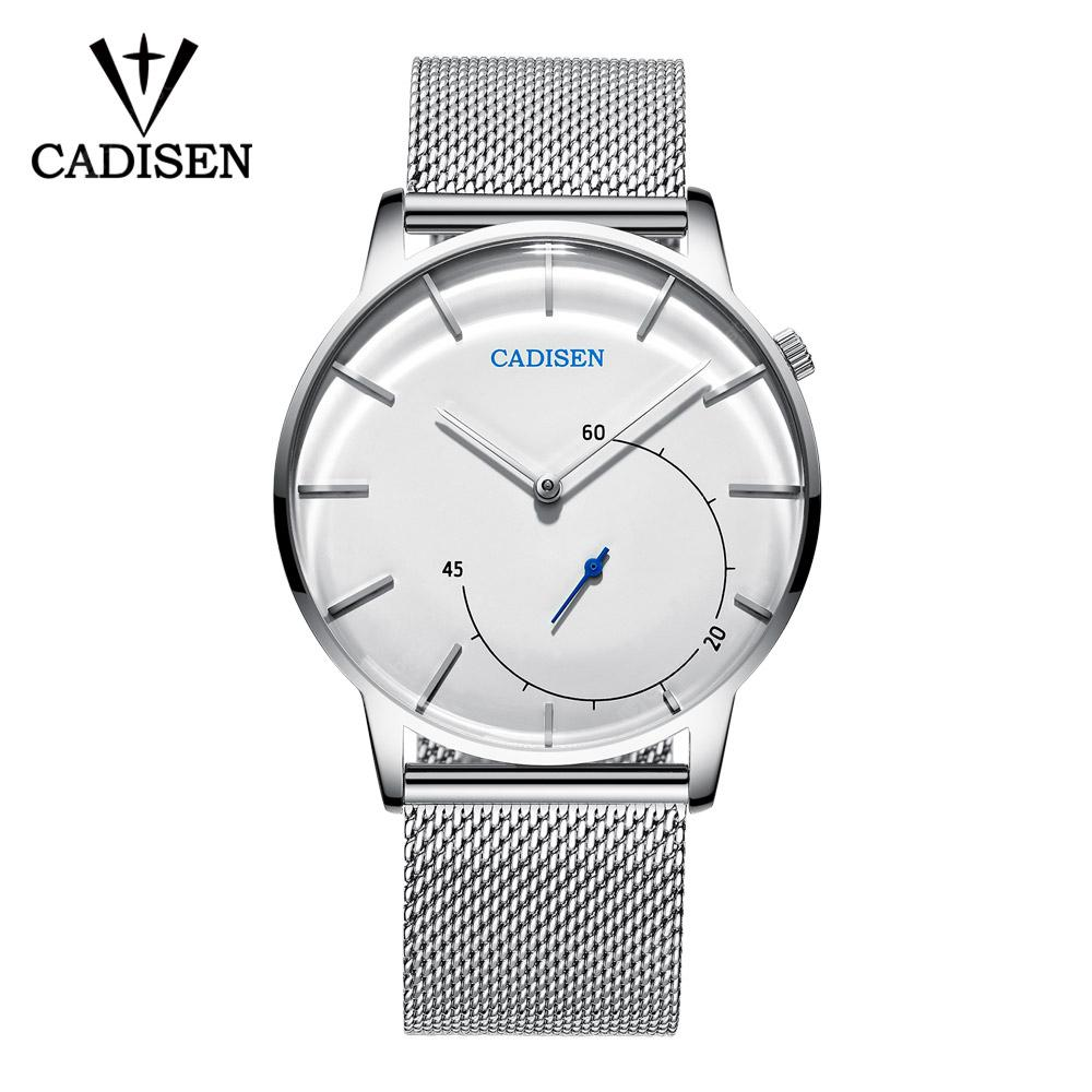 CADISEN Quartz Watch Men Brand Military WristWatches Men Full Steel Famous Business Clock Waterproof
