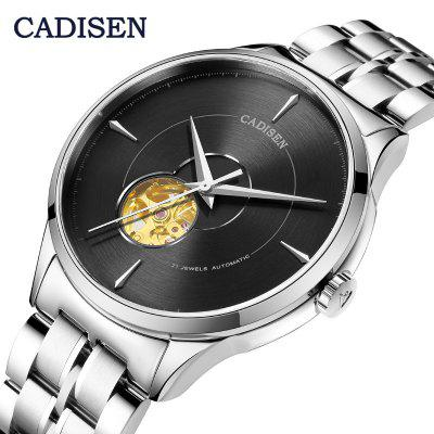 CADISEN automatic men watch military stainless steel watch business sports watch 5ATM waterproof