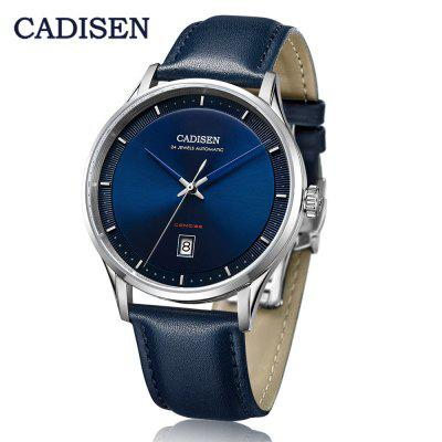 CADISEN Top Men Automatic Watch Business Military Stainless Steel Band Watch  Waterproof Calendar