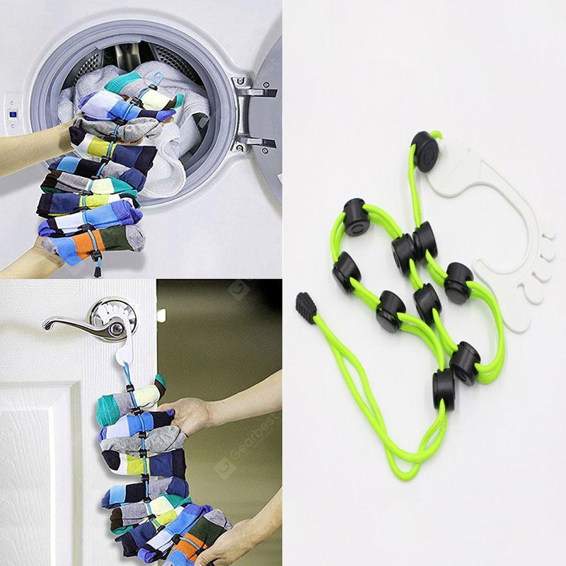 Sock Laundry Helper Storage Hangers Closet Organizer Easy Clips Locks Paired Socks