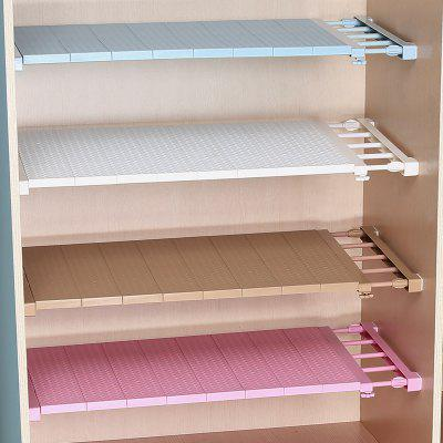 Adjustable Closet Organizer Storage Shelf Wall Mounted Kitchen Rack Space Saving Wardrobe Shelves