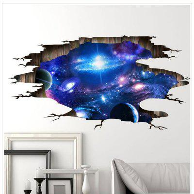 Universe Galaxy 3D Wall Stickers DIY Removable Home Decor  for Kids Rooms Ceiling Wallpaper Decor