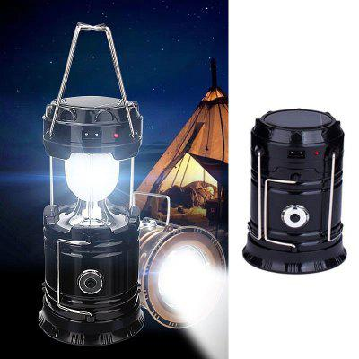 Camping Light Solar Energy Outdoor Camping Rechargeable Night Flashlights Portable Solar Lamp