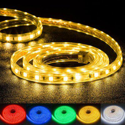 LED Strip Light AC 220V SMD 5050 Flexible LED Diode Tape Neon Ribbon LED Strip Waterproof-EU Plug