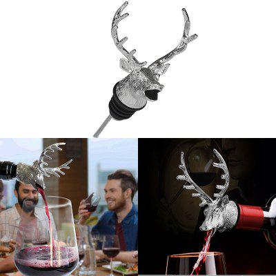 Unique Deer Head Wine Mouth Pourer Do Red Wine Wake Device
