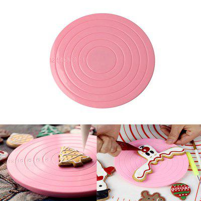 Mini 360 Degree Cake Rotating Plate Stand Platform Turntable Anti-skid Round Cake Baking Tools