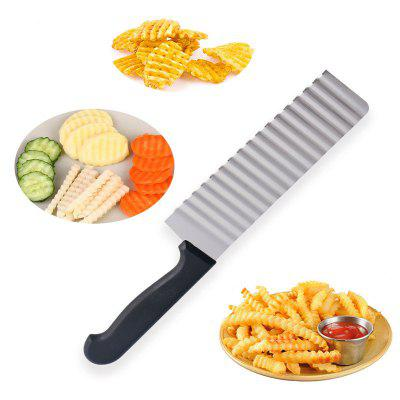Stainless Steel Multi-functional Cutter Wavy Potato Plaid Knife Carrots French Knife