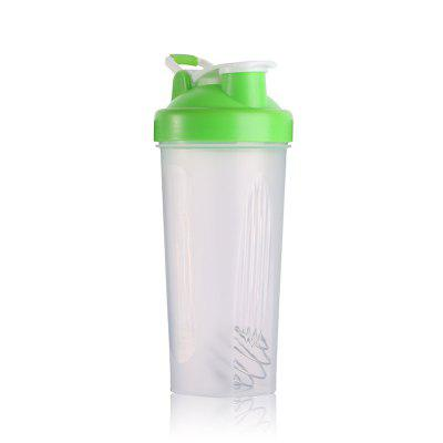600ml Gym Portable Sports Water Bottle Stainless Steel Stirring Ball Protein Powder Shaker Bottle