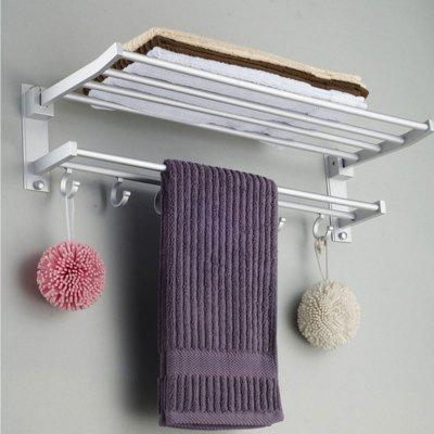 Alumimum Foldable Bathroom Towel Rack Holder Storage Hanger Kitchen Hotel Towel Clothes Shelf
