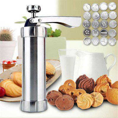 DIY Manual Cake Biscuit Machine Tool Cookie Mould 20 Pieces Piping Different Molds Nozzle