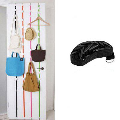 Multipurpose Stainless Steel Over Door Straps Hanger Nylon Belt Coat Rack  Hat Bag Key 8 Hooks