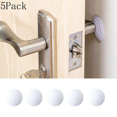 5Pack Wall Thickening Mute Door Fenders Rubber Fender Handle Door Lock Protective Pad