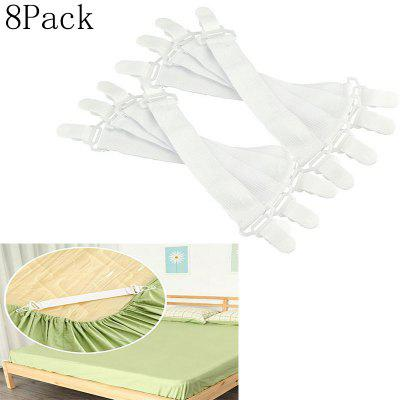 8Pcs Nylon Buckle Elastic Band For Bed Sheets Practical Bedspread Non Slip Sheet Fixer Accessory