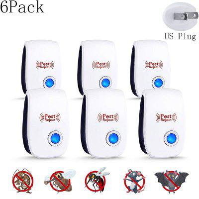 6Pack Ultrasonic Electronic Pest Mosquito Repellent Multi-purpose Repellent US EU UK Plug