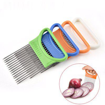4Pack Onion Tomato Vegetables Slicer Cutting Aid Holder Stainless steel Slicing Cutter