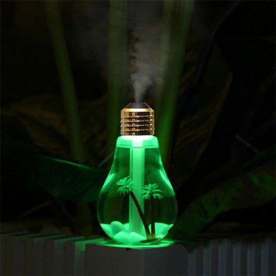 USB powered discoloration bulb humidifier ultra quiet 7-color night light