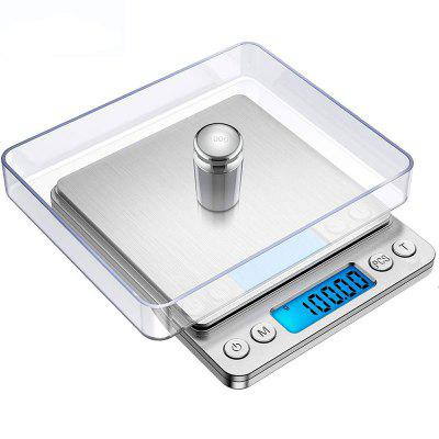 High Precision LCD Mini Kitchen Scale with Backlit Stainless Steel Weight Scale Jewelry Scale