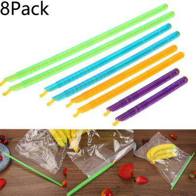8Pack Food Plastic Sealing Bar Bag Sealing Sealing Clip Food Freshness Locking Bar Storage
