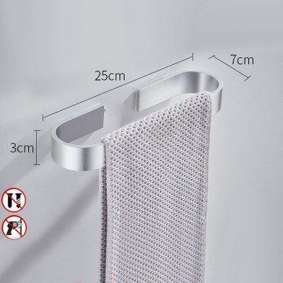 Space Aluminum Bathroom Towel Bar Free Of Punch Toilet Wall Hanging Slippers Leaching Rack