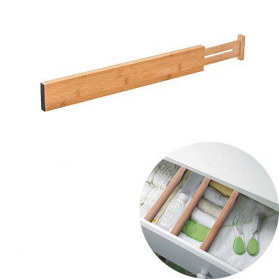 Bamboo Drawer Divider Kitchen Drawer Storage Organizer Adjustable Organic Bamboo Material