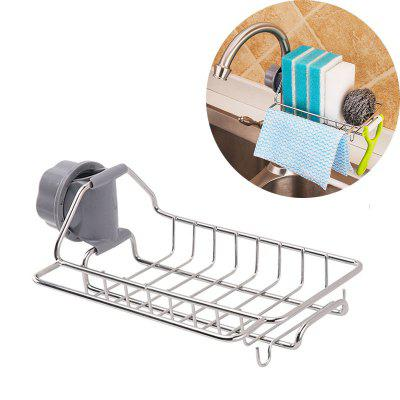 Stainless Steel non - Perforating kitchen Sink Rack Faucet Rack Dishcloth Sponge Asphalt Rack