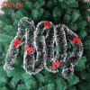 Christmas Tree Ribbon Decoration Christmas Gift Hair Strip Ink Green White Side With Bow