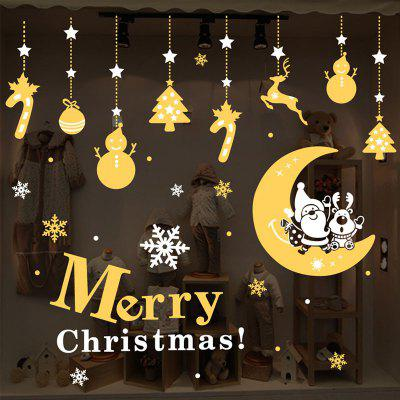 DIY Merry Christmas Wall Stickers Window Glass Festival Decals Santa Murals