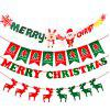Christmas Hanging Decorations Pull Flags Merry Xmas Deer Tree Letter Socks decoracion decorations