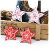 10Pack DIY Christmas Wood Hanging Wooden Gift Interior Decoration Pendant