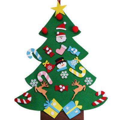 Creative Christmas Decoration Felt Christmas Tree Children DIY Hand-made Hanging