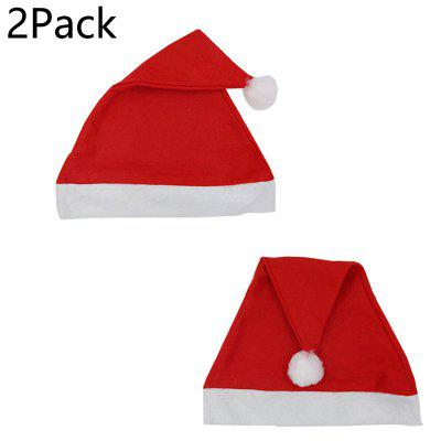 Christmas Day Thick Upscale Christmas Hat festival Short Plush Thick and thin Christmas Hat