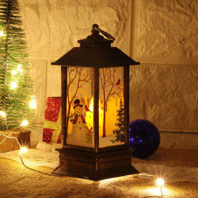 LED Night Light Xmas Wind Lamp Lantern  Unique Stable Safety Candlesticks Outdoor Decor