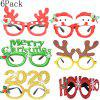 6Pack Christmas Decorations Toys Santa Claus Snowman Antler Glasses Christmas Decorative Glasses