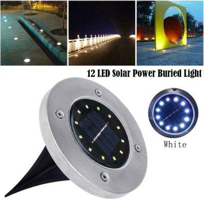 12LED Solar Power Buried Light Under Ground Lamp Outdoor Path Way Garden Lawn Yard Lighting