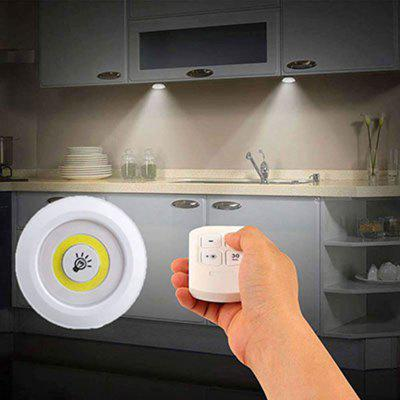 3W Wireless Remote Control Light Warm Light White Light For Kitchen Bedroom Wardrobe