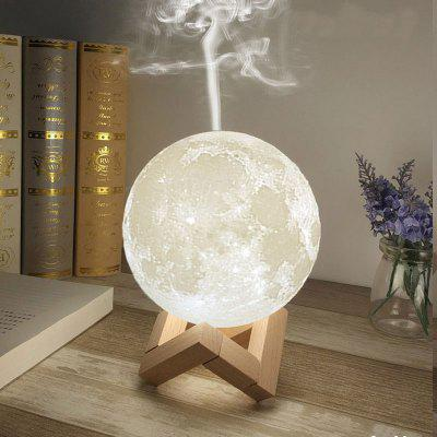 3D Moon Night Light Aroma Humidifier Mute Desktop USB Charging Bedside Light
